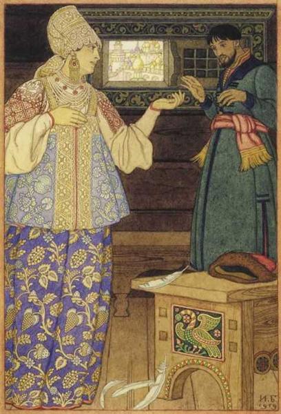 Андрей-стрелок и Стрельчиха, 1900 - Иван Билибин
