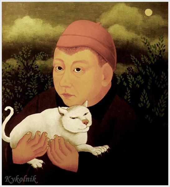 Boy with cat, 1959 - Ivan Generalić