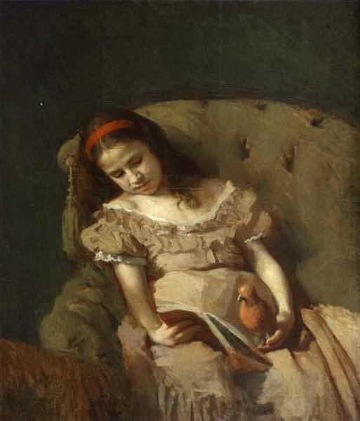 Books Got Her, 1872 - Ivan Kramskoy