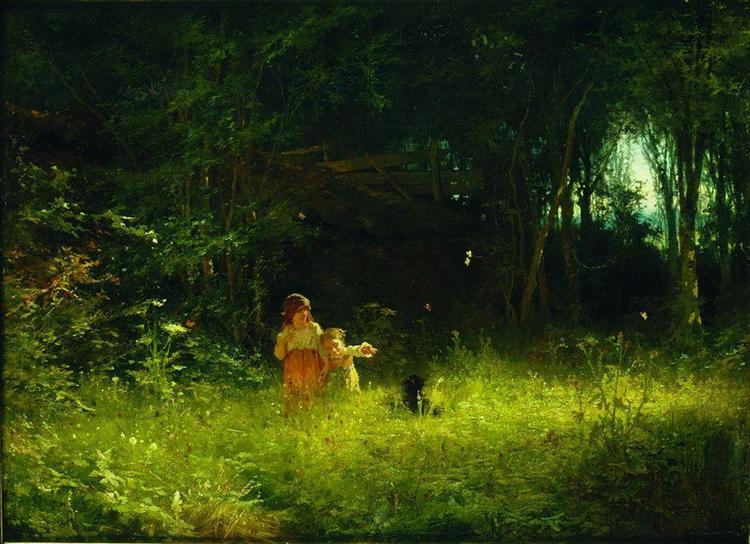 Childrenin theforest, 1887 - Ivan Kramskoy