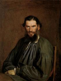 Portrait of Leo Tolstoy - Ivan Kramskoy