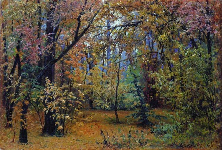 Autumn forest, 1876 - Ivan Shishkin