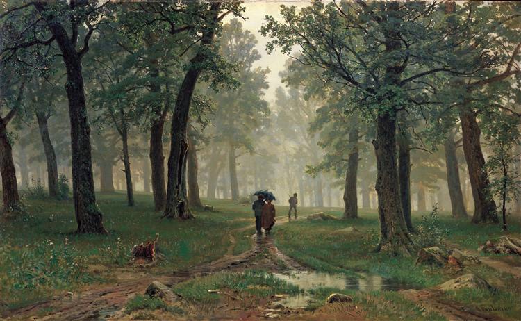 Rain in the Oak Forest, 1891 - Ivan Shishkin