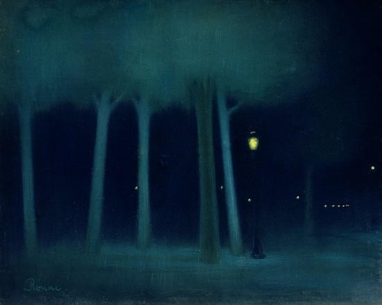A Park at Night, 1892 - 1895 - Jozsef Rippl-Ronai