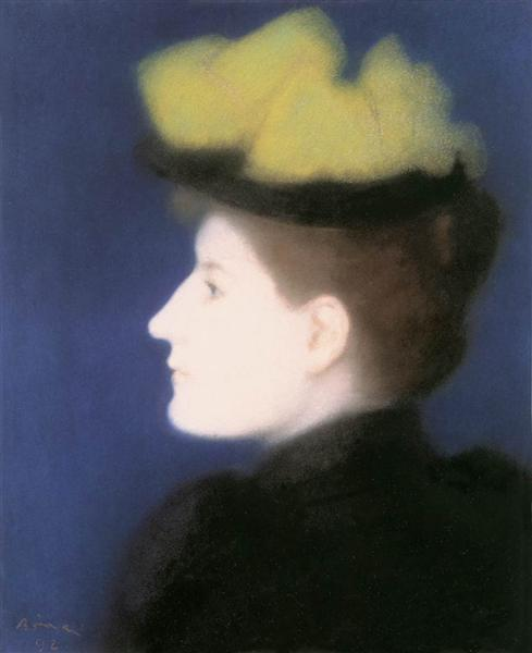 Portrait of Margit Piátsek, 1892 - József Rippl-Rónai