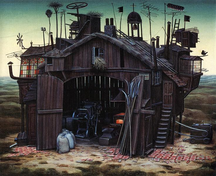 Shed Of Rebellion, 1981 - Jacek Yerka