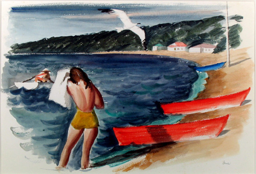 Boats on the Beach, 1946 - Jack Bush