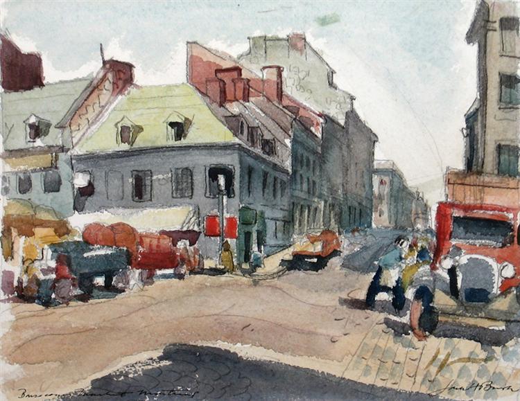 Bonsecours Market, 1937 - Jack Bush