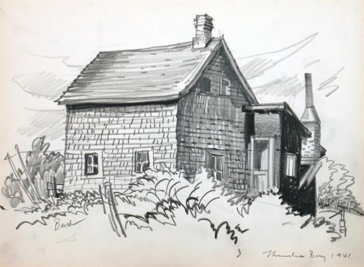 Untitled, House, Thunder Bay, 1941 - Jack Bush