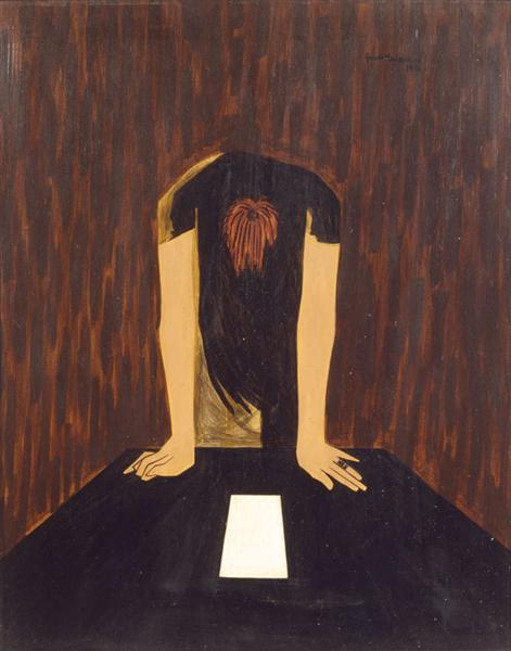 War Series: The Letter, 1946 - Jacob Lawrence
