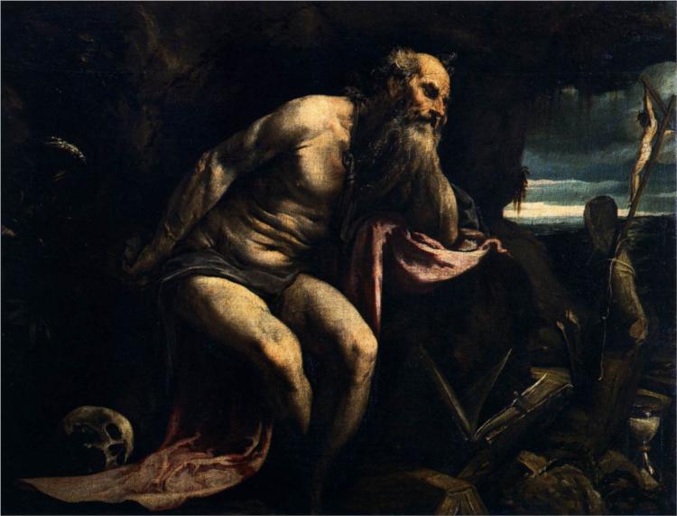 Saint Jerome, 1556 - Jacopo Bassano