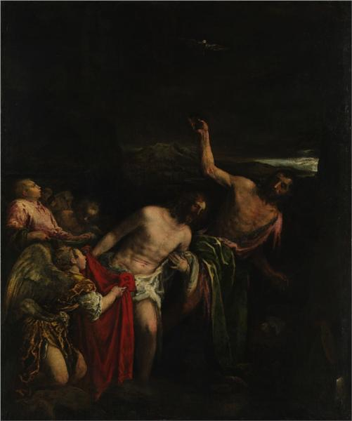 The Baptism of Christ, 1590 - Jacopo Bassano