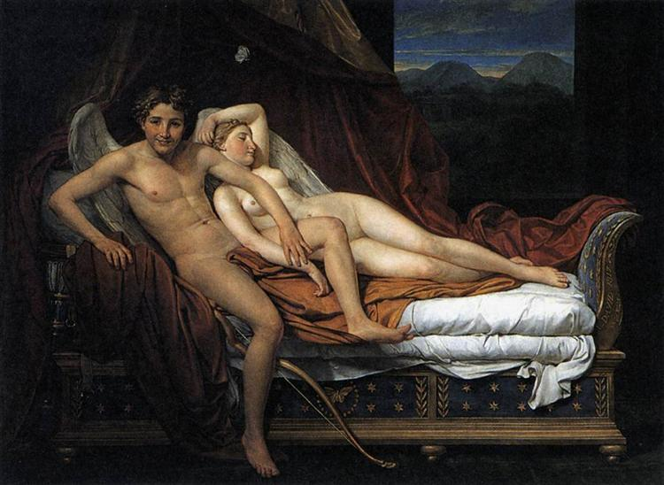 Cupid and Psyche, 1817 - Jacques-Louis David