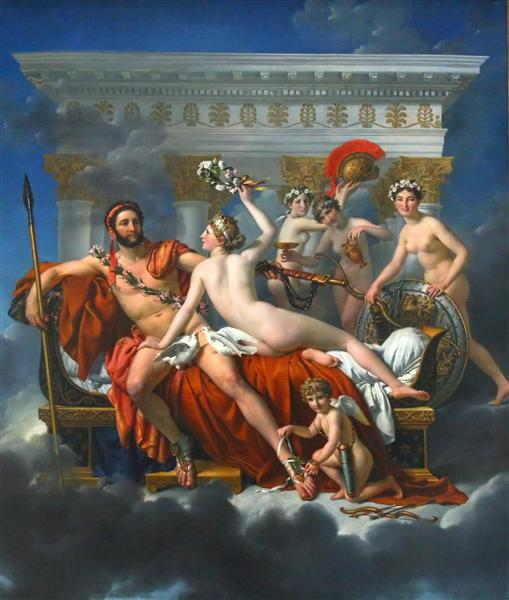 Mars Disarmed by Venus and the Three Graces, 1824 - Jacques-Louis David