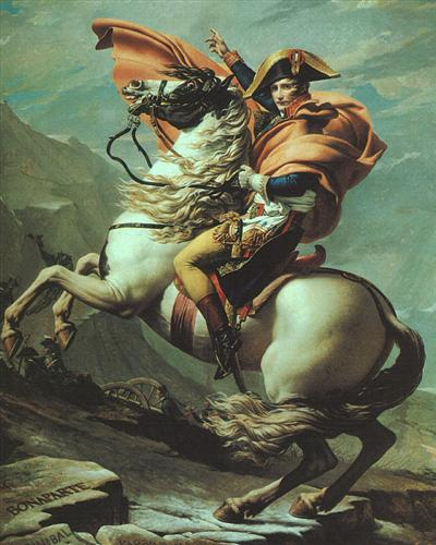 Napoleon Crossing the Alps at the St Bernard Pass, 20th May 1800 - Jacques-Louis David