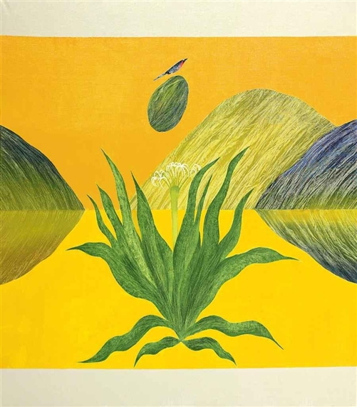 Untitled (Lily by my Window) - Jagdish Swaminathan