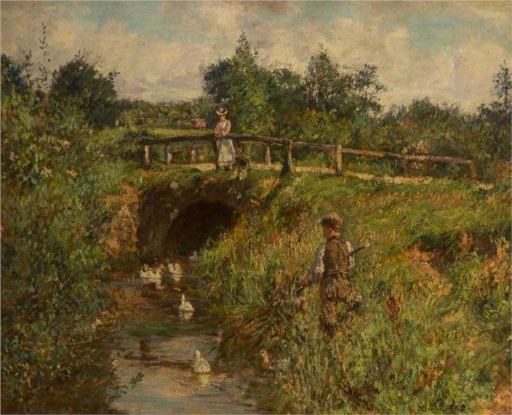 Disturbing the Fishers, 1905 - James Charles