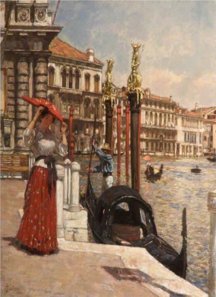 Heat of the Day, Venice, 1892 - James Charles