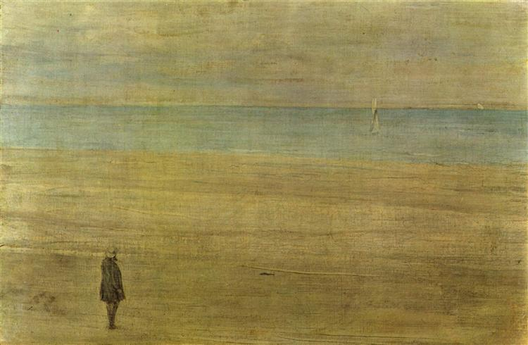 Harmony in Blue and Silver: Trouville, 1865 - James McNeill Whistler