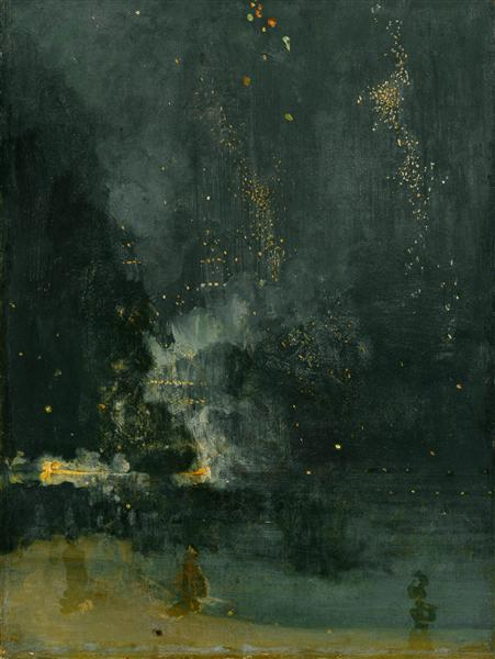 Nocturne in Black and Gold, the Falling Rocket - James McNeill Whistler