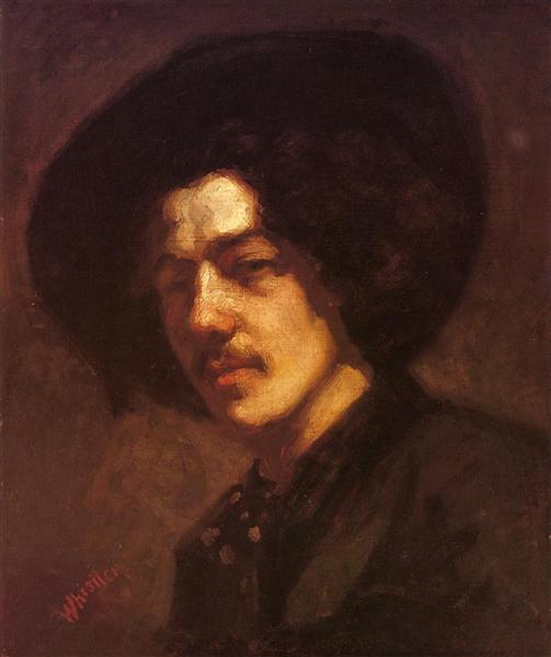 Portrait of Whistler with a Hat, 1857 - 1859 - James McNeill Whistler