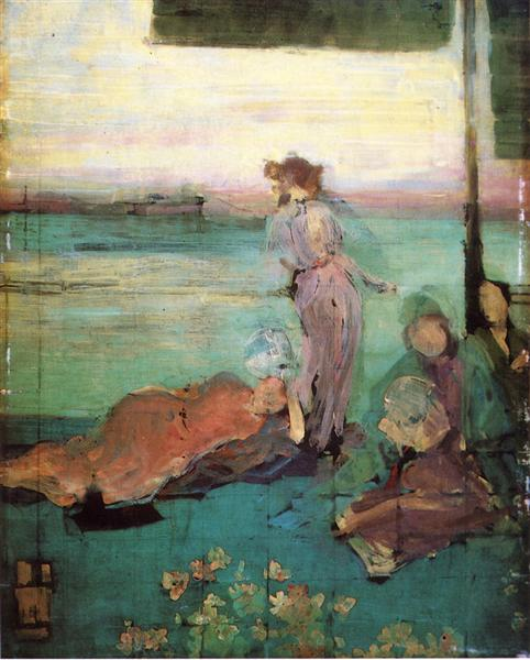 "Sketch for ""The Balcony"", 1867 - 1870 - James Abbott McNeill Whistler"