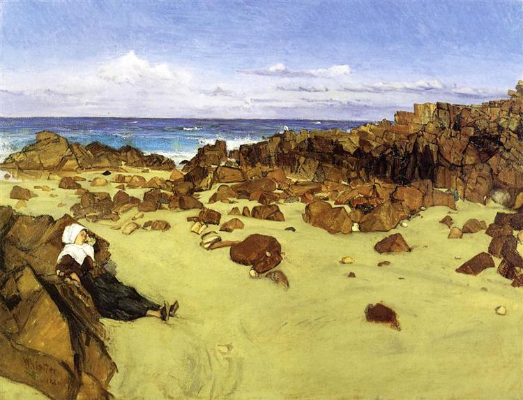 The Coast of Brittany (aka Alone with the Tide) - James McNeill Whistler