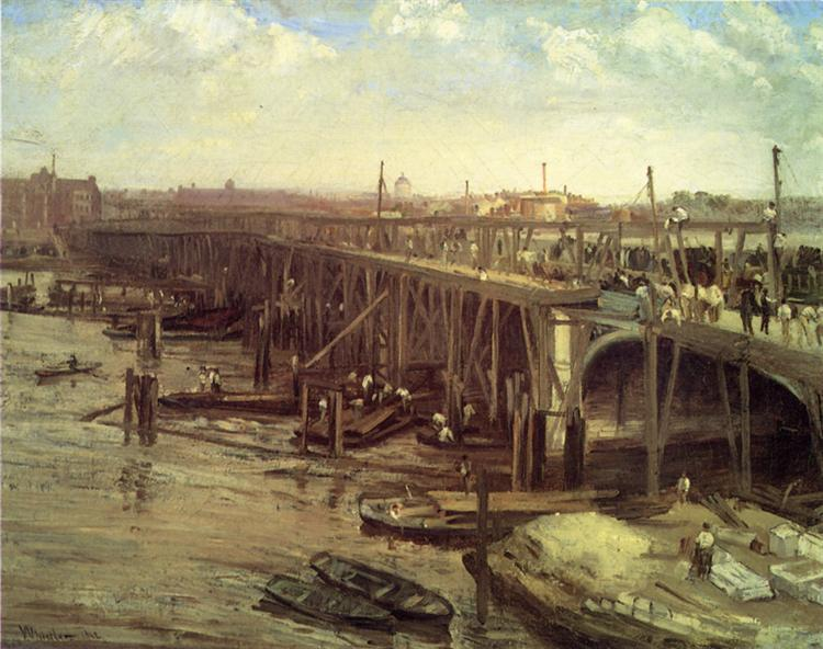 The Last of Old Westminster, 1862 - James McNeill Whistler