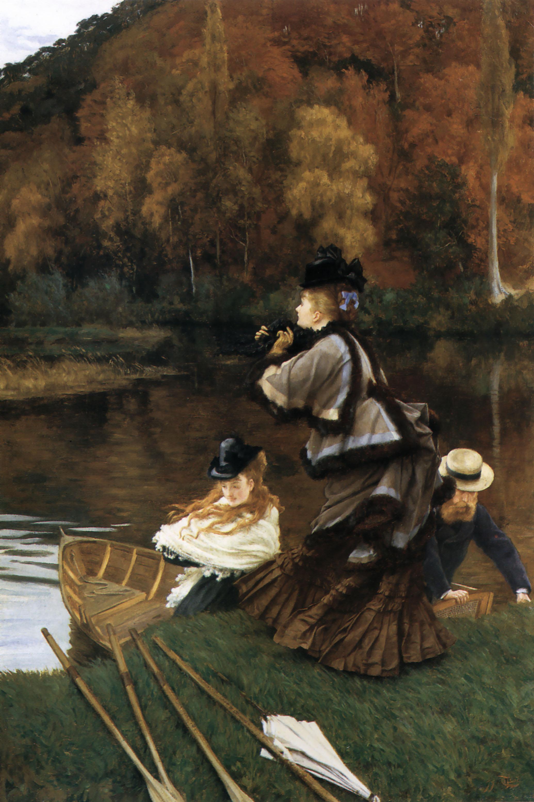 Autumn On The Thames C 1871 C 1872 James Tissot