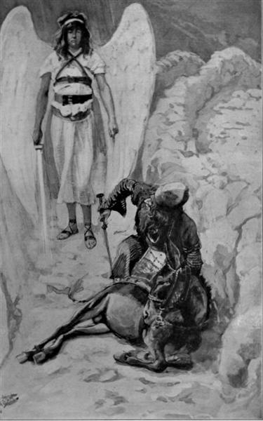 Balaam and the Ass, as in Numbers, 1886 - 1900 - Джеймс Тиссо