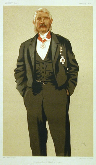 Caricature of General Sir Frederick Paul Haines, 1876 - James Tissot