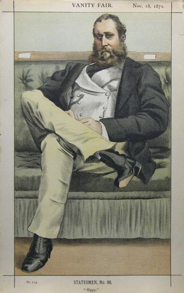 Caricature of Lionel Dawson Damer M.P., 1871 - James Tissot