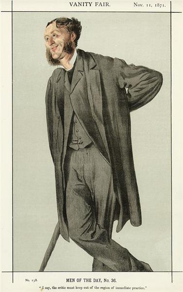 Caricature of Matthew Arnold, 1871 - James Tissot