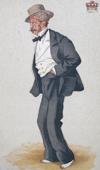 Caricature of Thomas Egerton, 2nd Earl of Wilton, 1873 - James Tissot