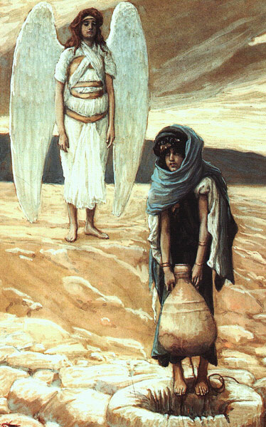 Hagar and the Angel in the Desert, Tames Tissot, 1900