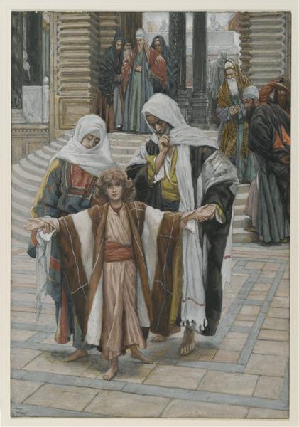 Jesus Found in the Temple - Джеймс Тиссо
