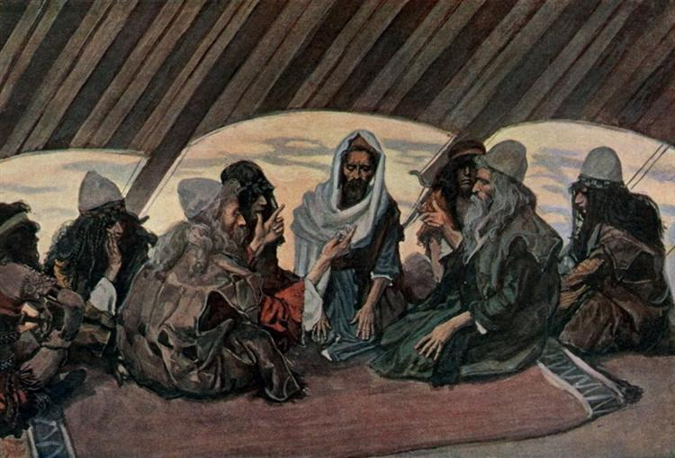 Jethro and Moses, as in Exodus 18, 1896 - 1900 - James Tissot