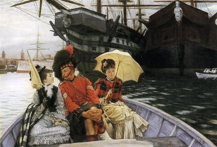 Portsmouth Dockyard, c.1877 - James Tissot