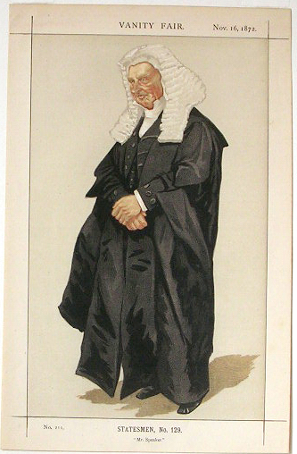 Statesmen No.1290 Caricature of The Rt Hon HBW Brand M.P. - James Tissot