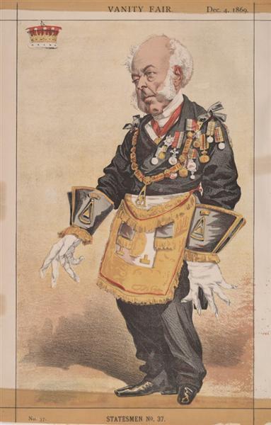 Statesmen No.370 Caricature of Thomas Dundas, 2nd Earl of Zetland - James Tissot