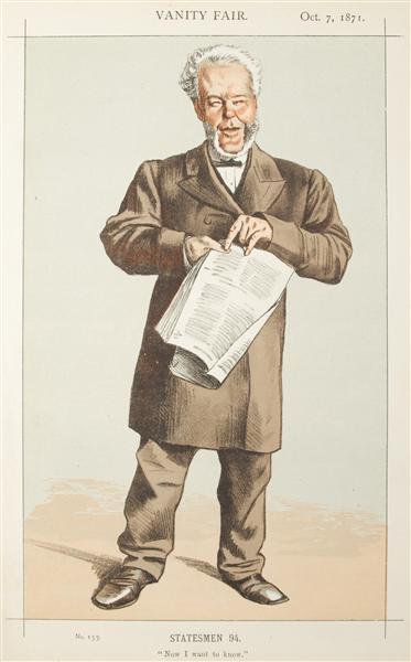 Statesmen No.940 Caricature of Alderman Andrew Lusk M.P. - James Tissot