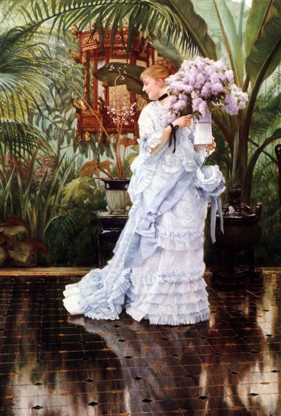 The Bunch of Lilacs, c.1875 - James Tissot