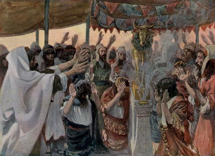 The Golden Calf, as in Exodus - James Tissot