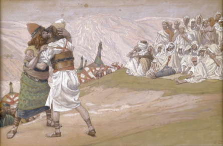 The Meeting of Esau and Jacob, c.1896 - c.1902 - James Tissot