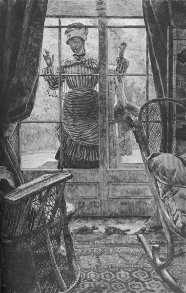 Woman at the window - James Tissot