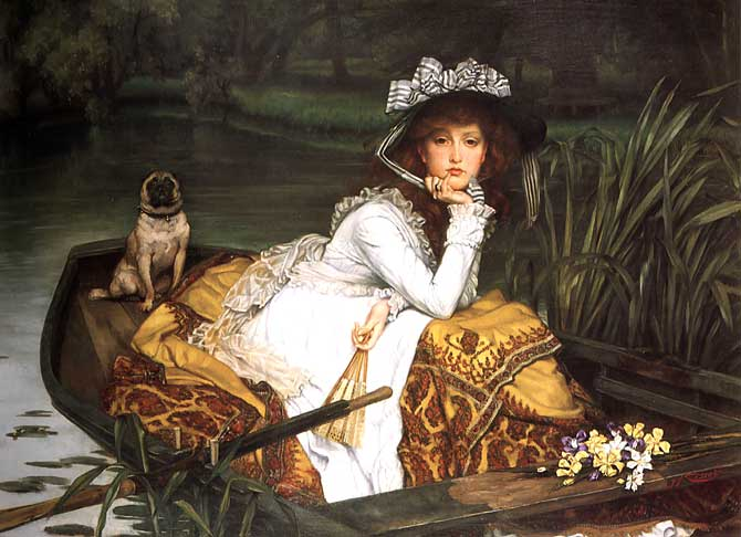 Young Lady In A Boat, 1870 - James Tissot