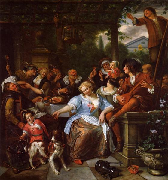 Merry Company on a Terrace, c.1673 - 1675 - Jan Steen