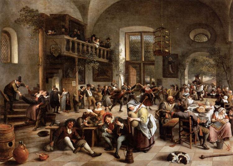 Revelry at an Inn, 1674 - Jan Steen