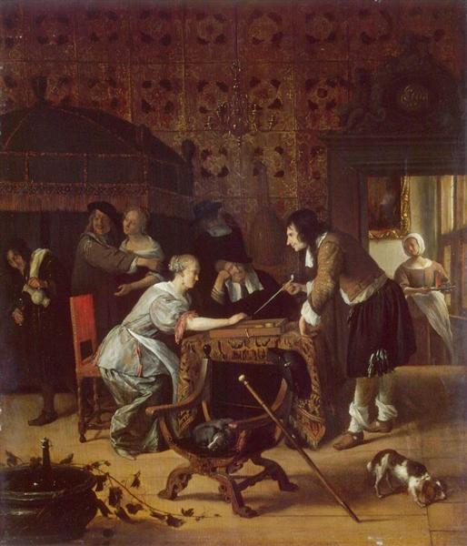 Tric Trac Players, 1667 - Jan Steen