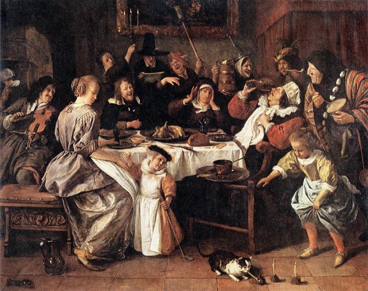 Twelfth Night, c.1668 - Jan Steen